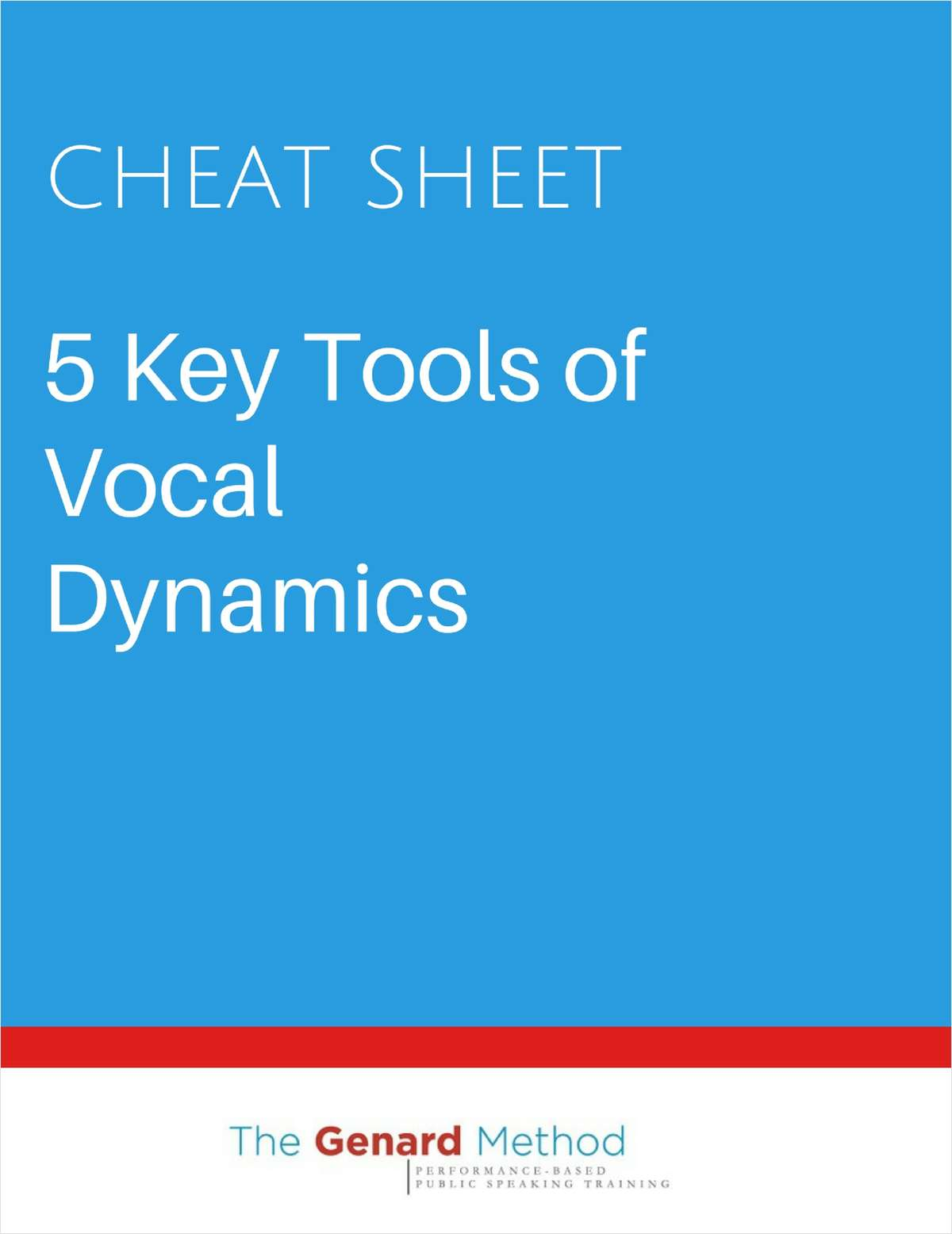 5 Key Tools of Vocal Dynamics