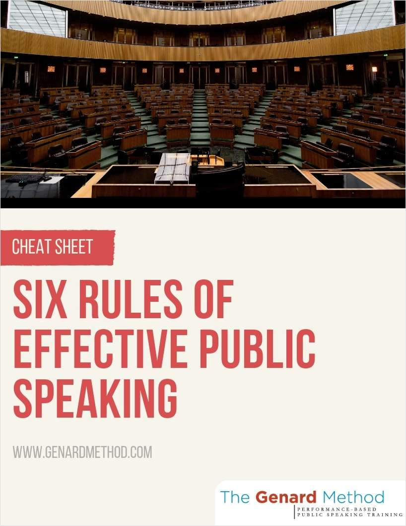 Six Rules of Effective Public Speaking