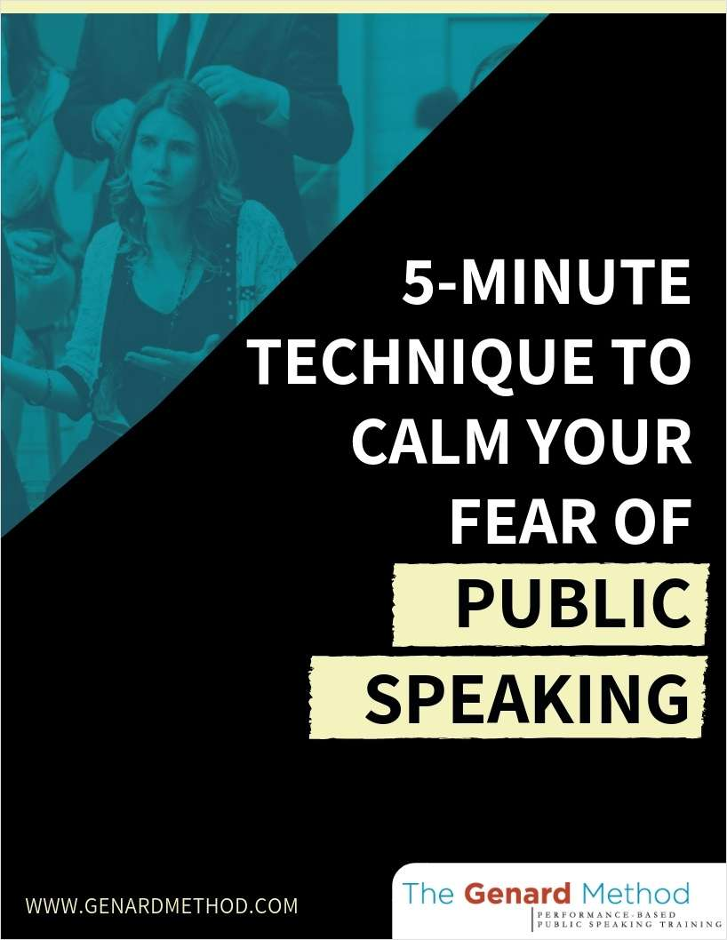 5-Minute Technique to Calm Your Fear of Public Speaking