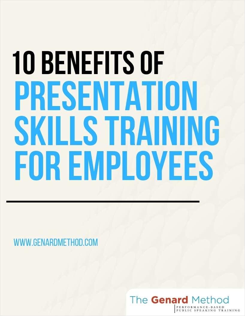 10 Benefits of Presentation Skills Training for Employees