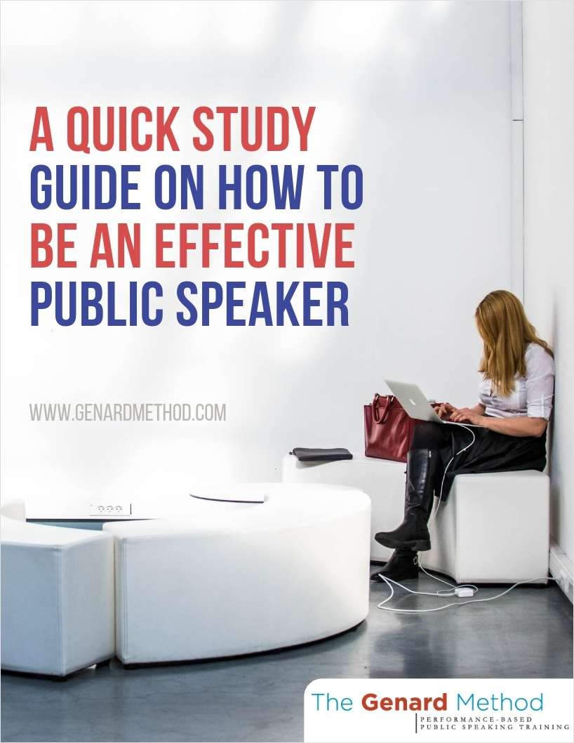 A Quick Study Guide on How to Be an Effective Public Speaker
