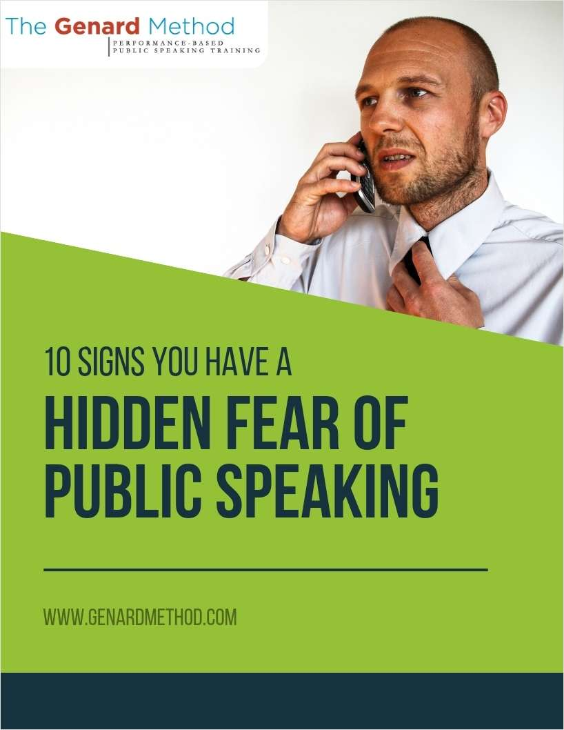 10 Signs You Have a Hidden Fear of Public Speaking