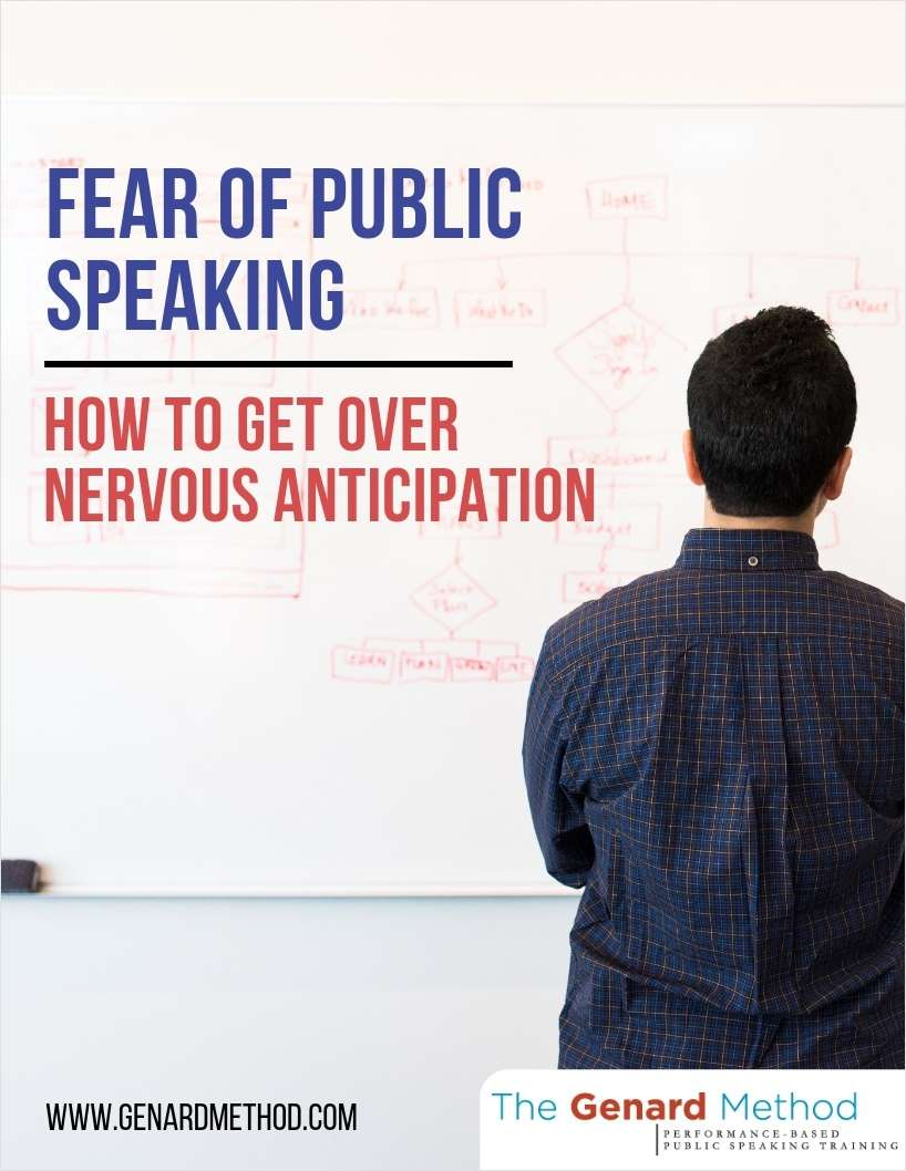 Fear of Public Speaking - How to Get Over Nervous Anticipation