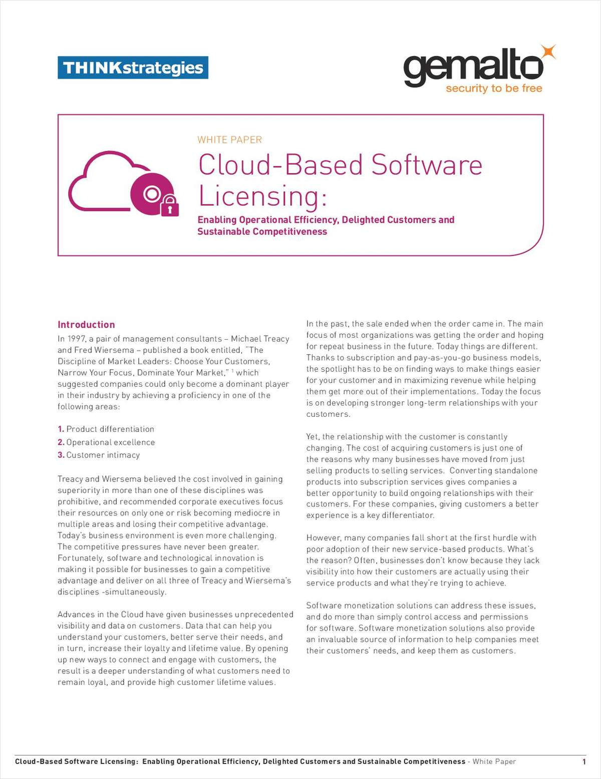 Cloud-Based Software Licensing