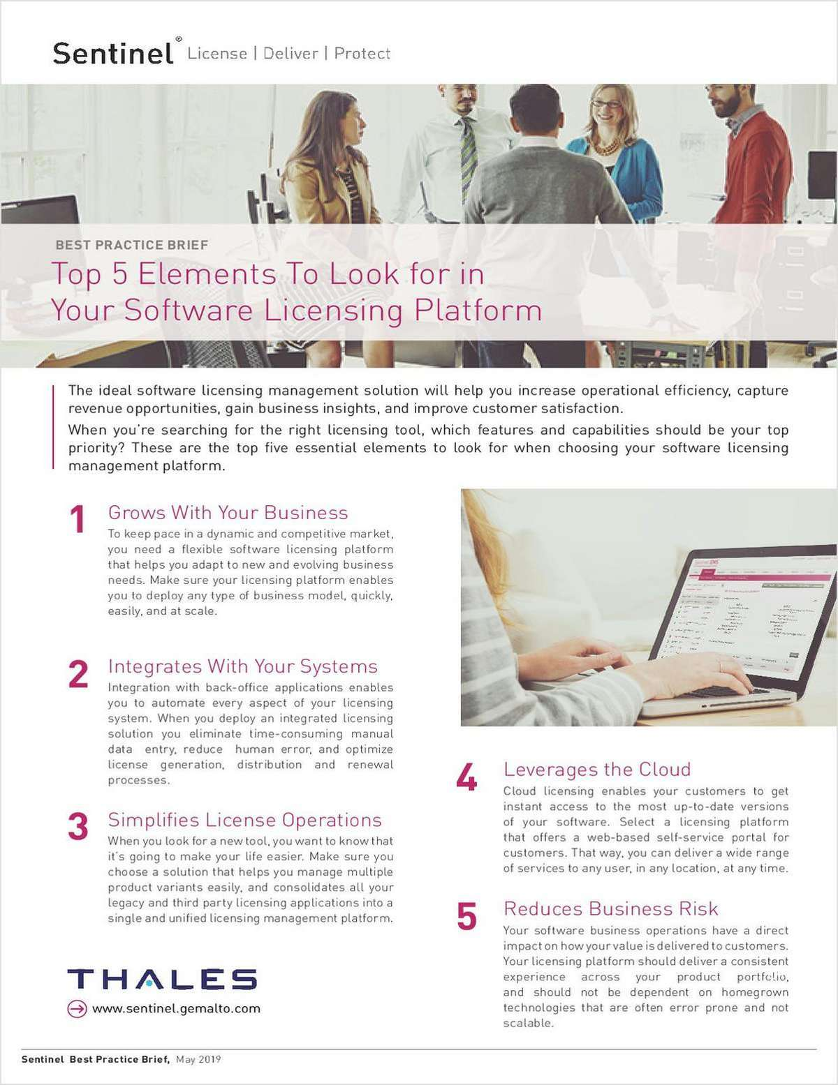 The Top Five Elements To Look for in a Software Licensing Platform