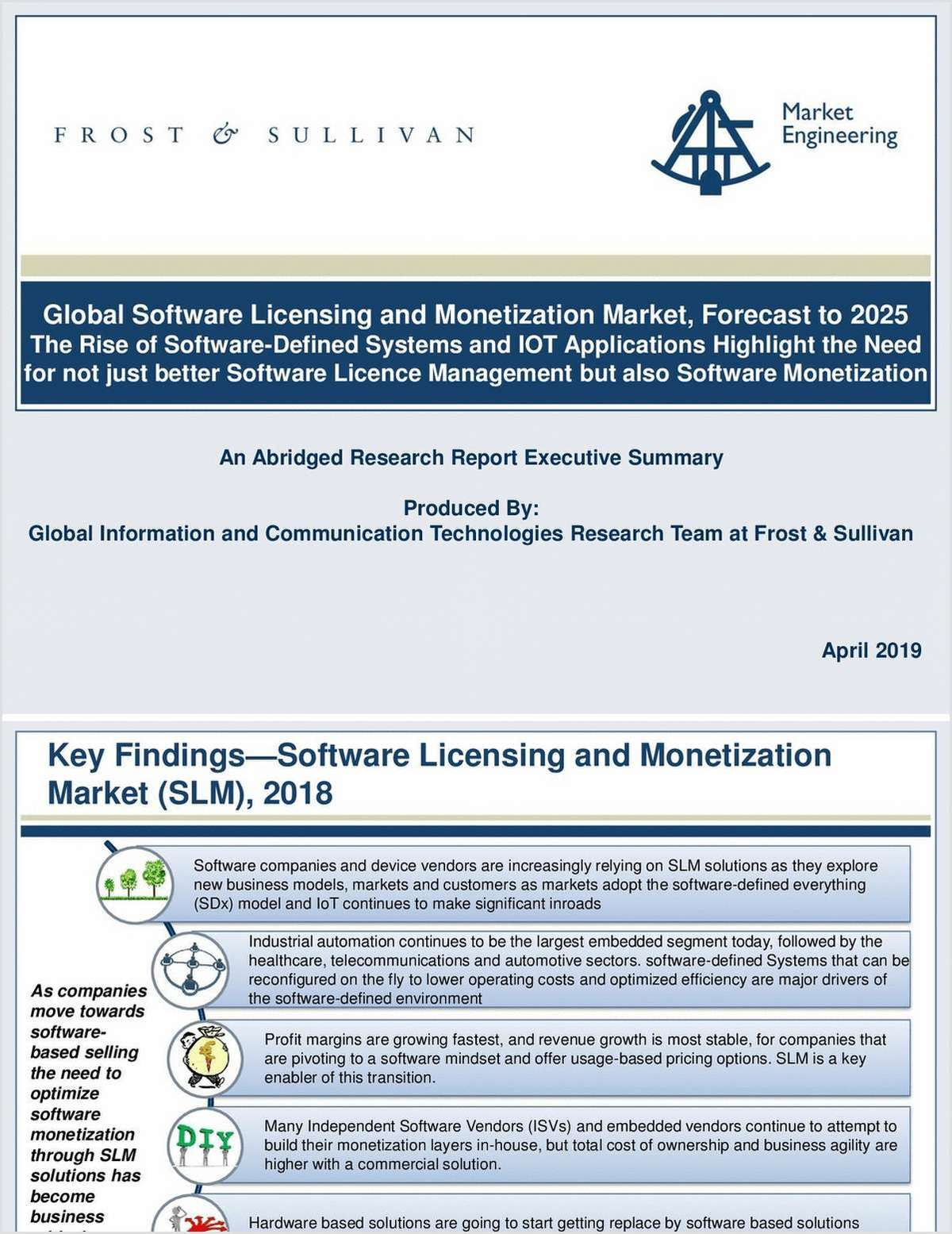 Frost & Sullivan: Global Software Licensing and Monetization Market, Forecast to 2025