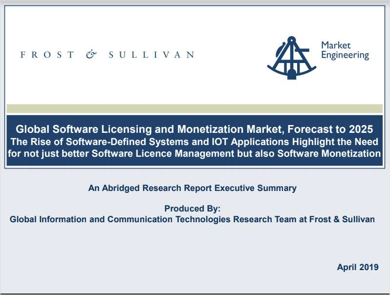 Rapporto Gratuito/ Free Report : Frost & Sullivan: Global Software Licensing and Monetization Market, Forecast to 2025