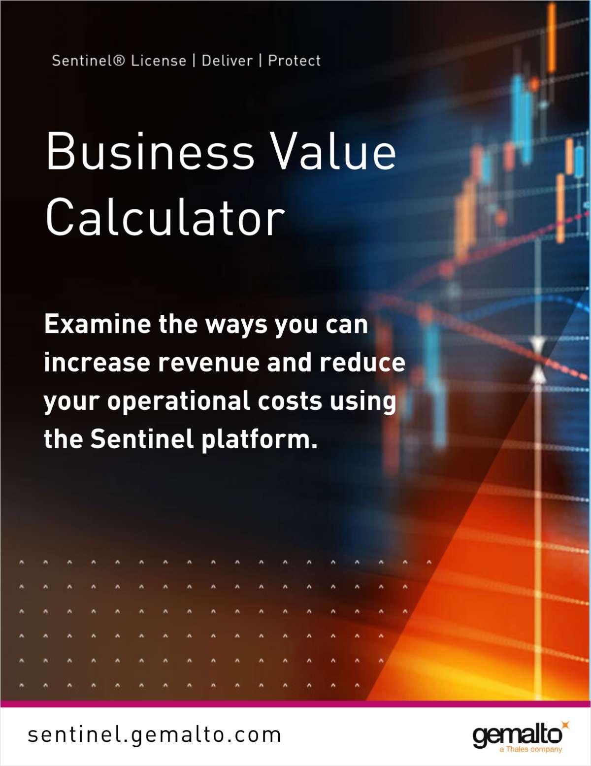 Sentinel Software Business Value Calculator -  Il calcolatore del valore aziendale del software Sentinel