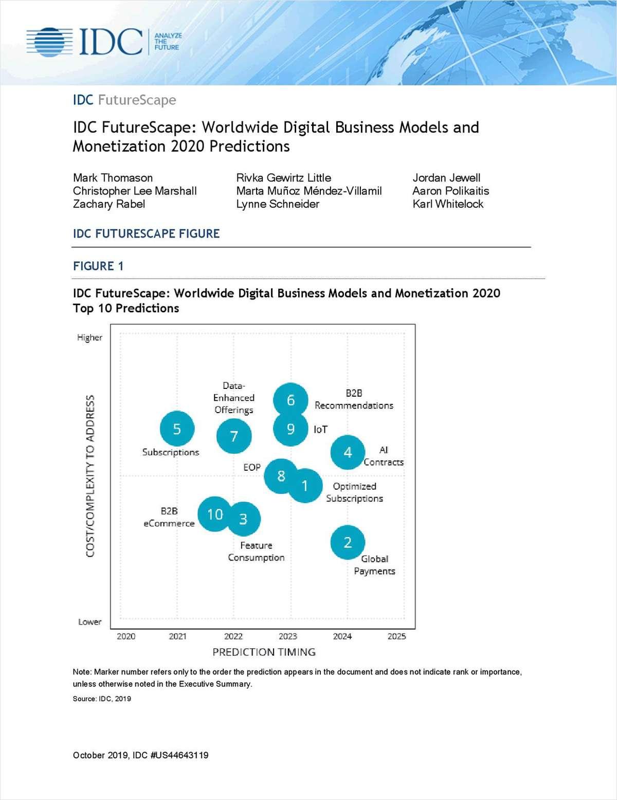 IDC: Worldwide Digital Business Models and Monetization 2020 Predictions