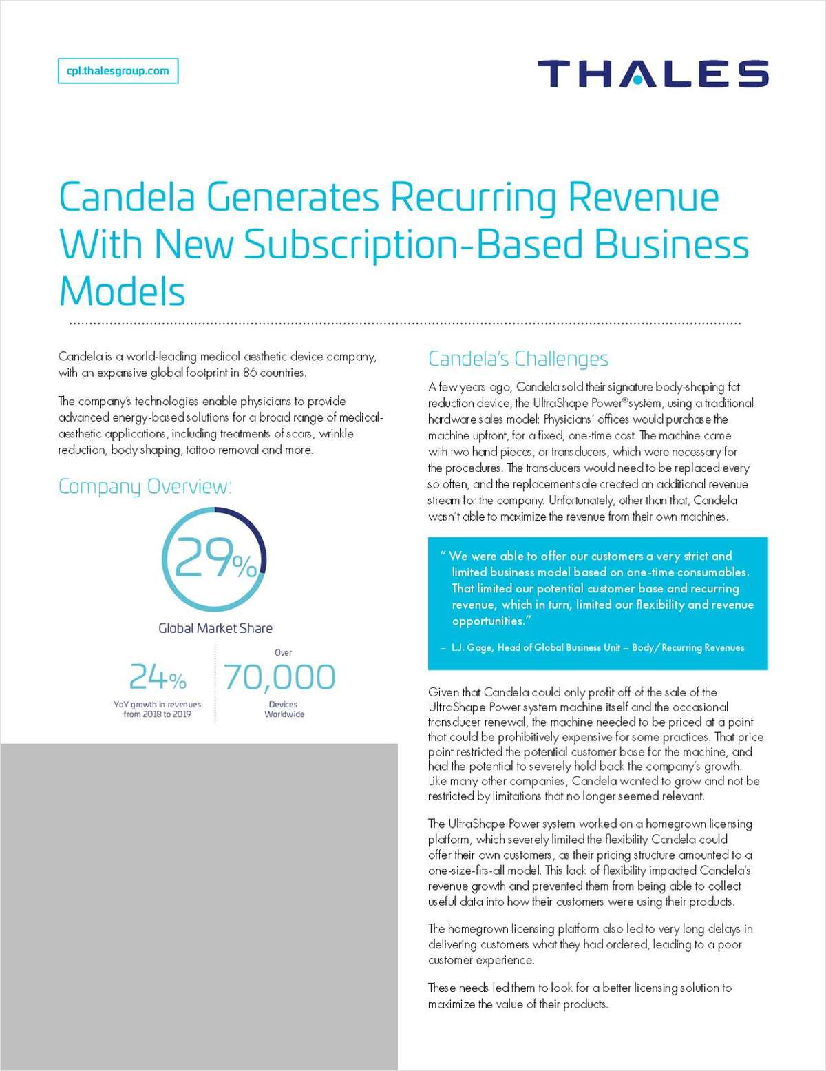 Medical aesthetic device company Candela generates recurring revenue with new subscription-based business models