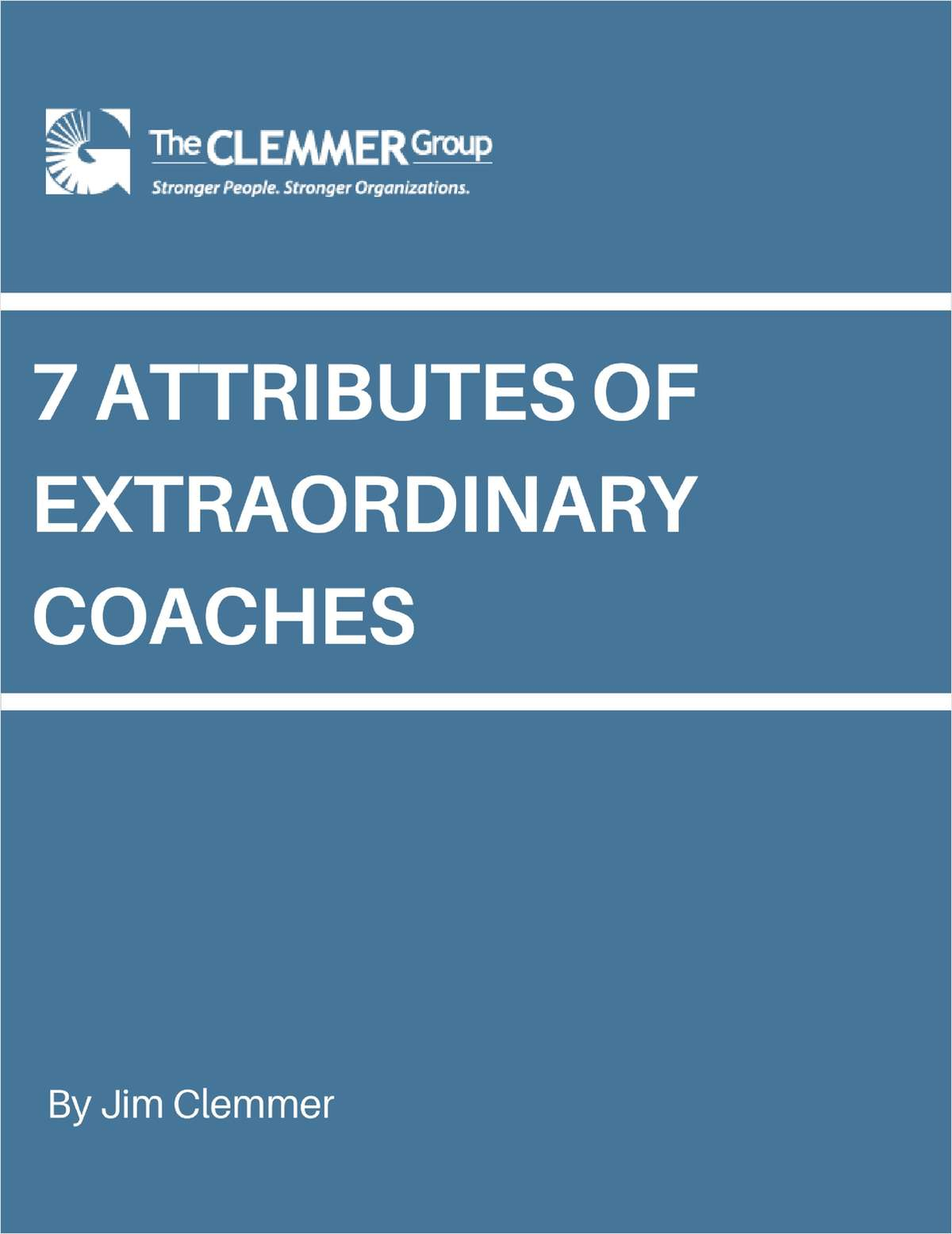 7 Attributes of Extraordinary Coaches