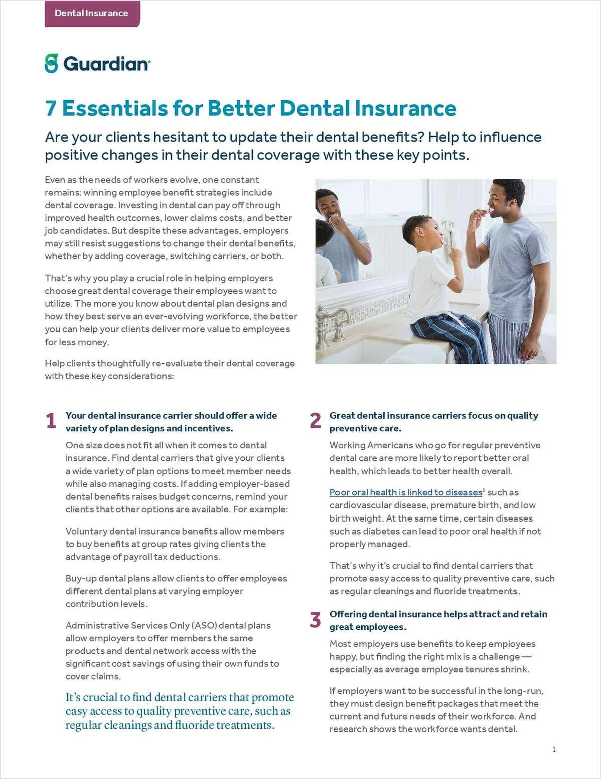 7 Essentials for Better Dental Insurance