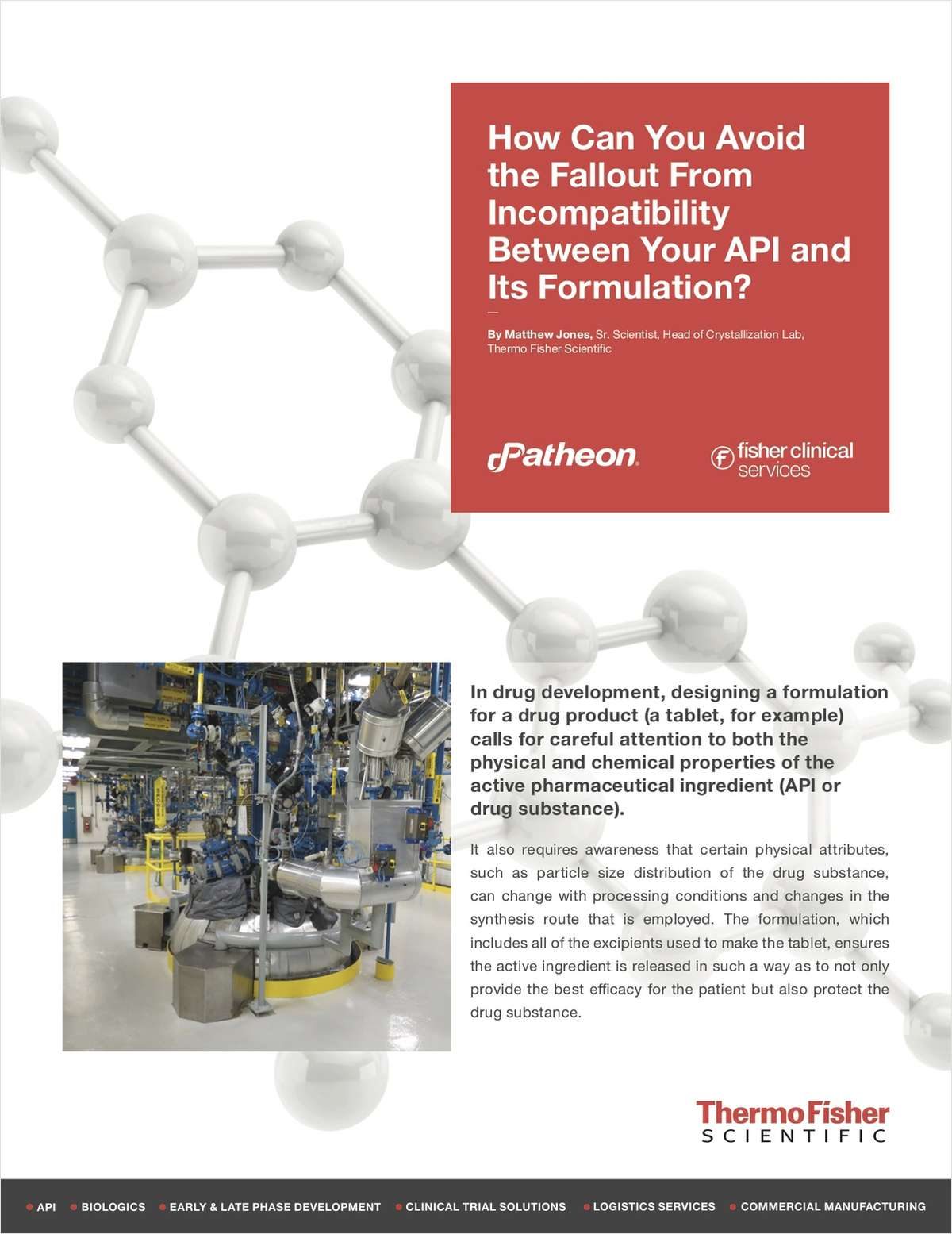 Avoid Fallout From Incompatibility Between Your API And Its Formulation