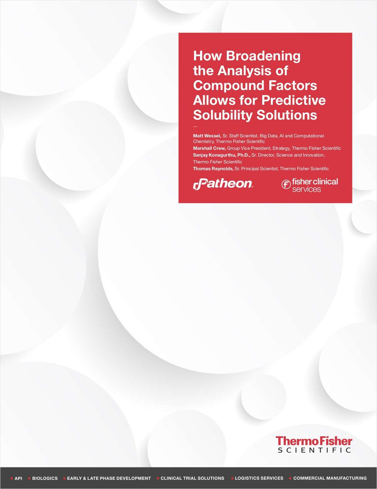 How Broadening the Analysis of Compound Factors Allows for Predictive Solubility Solutions