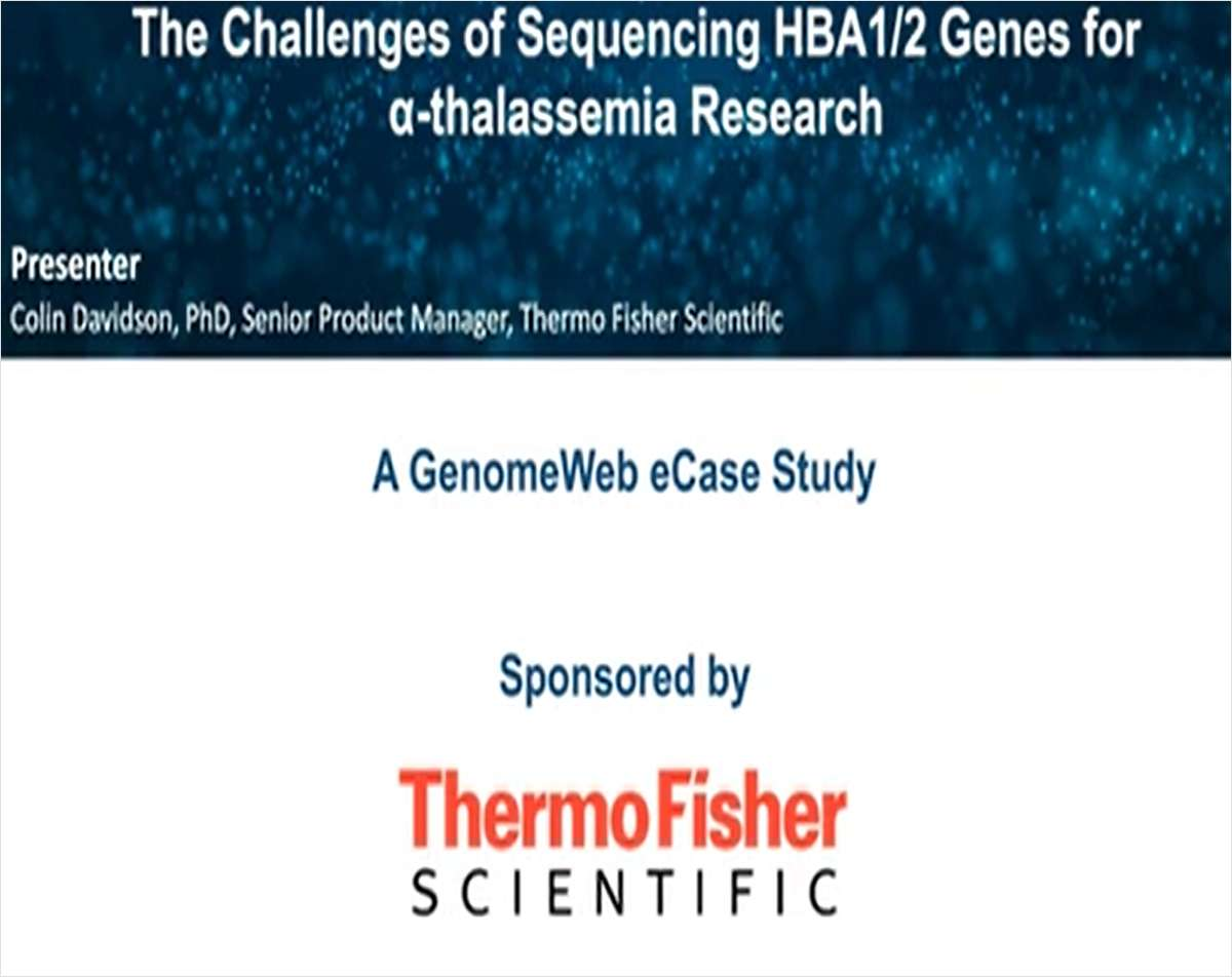The Challenge of Sequencing HBA1/2 Genes for Alpha Thalassemia Research