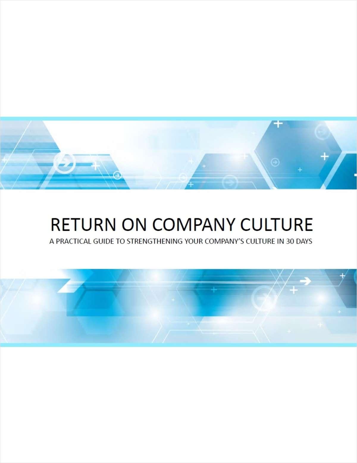 Return On Company Culture