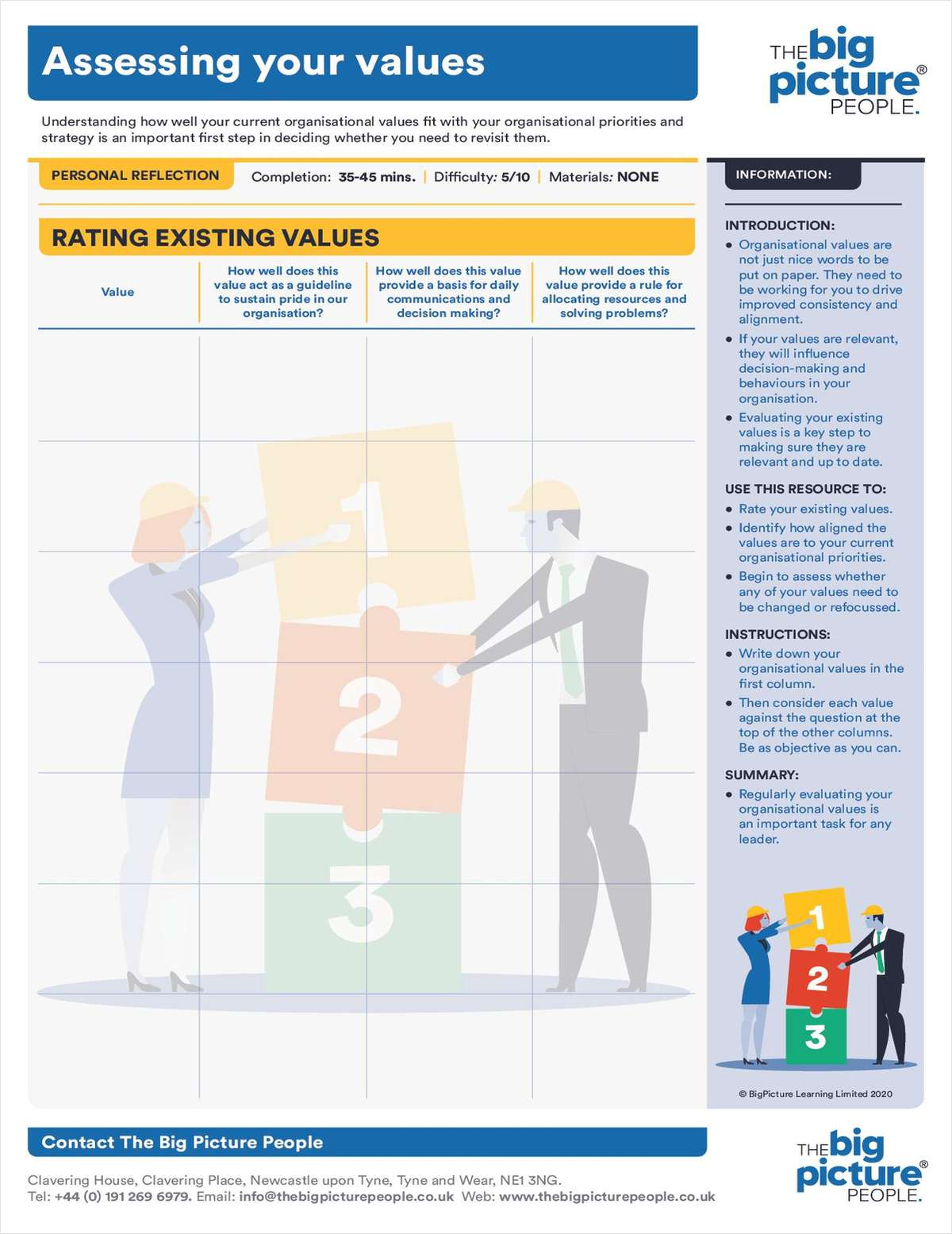 Assessing Your Values