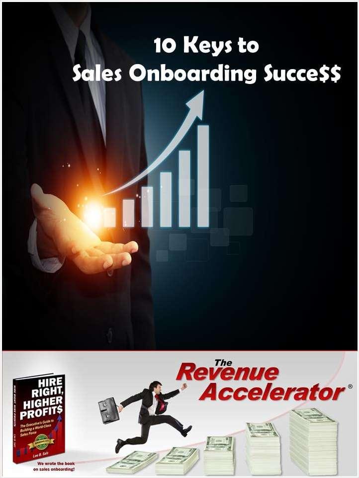 10 Keys to Sales Onboarding Success
