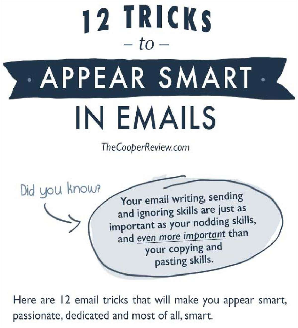 12 Tricks to Appear Smart in Email