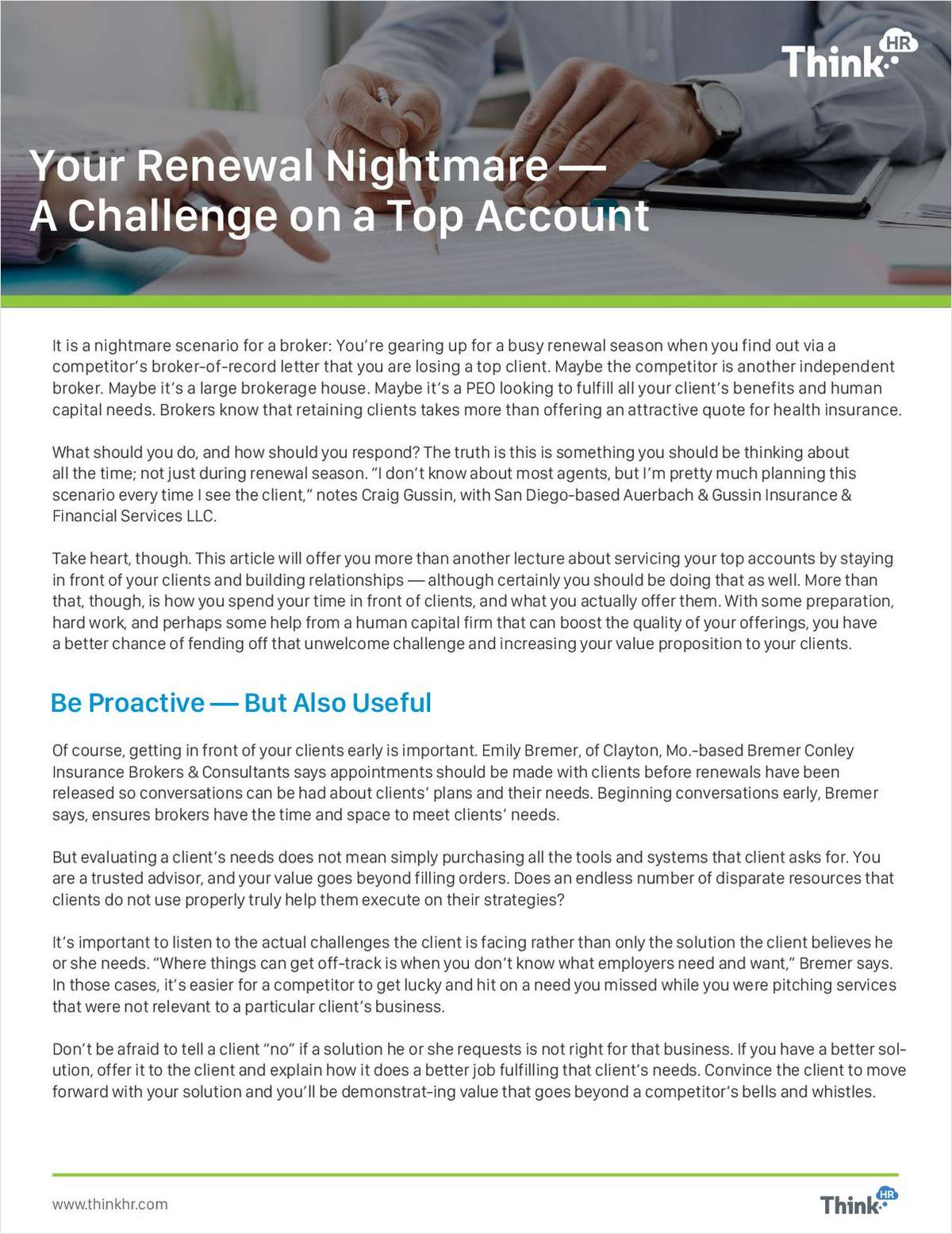 Your Renewal Nightmare: Losing a Top Client