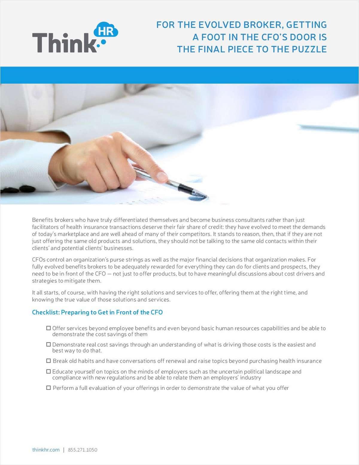 Tips on Getting Your Foot in the CFO's Door