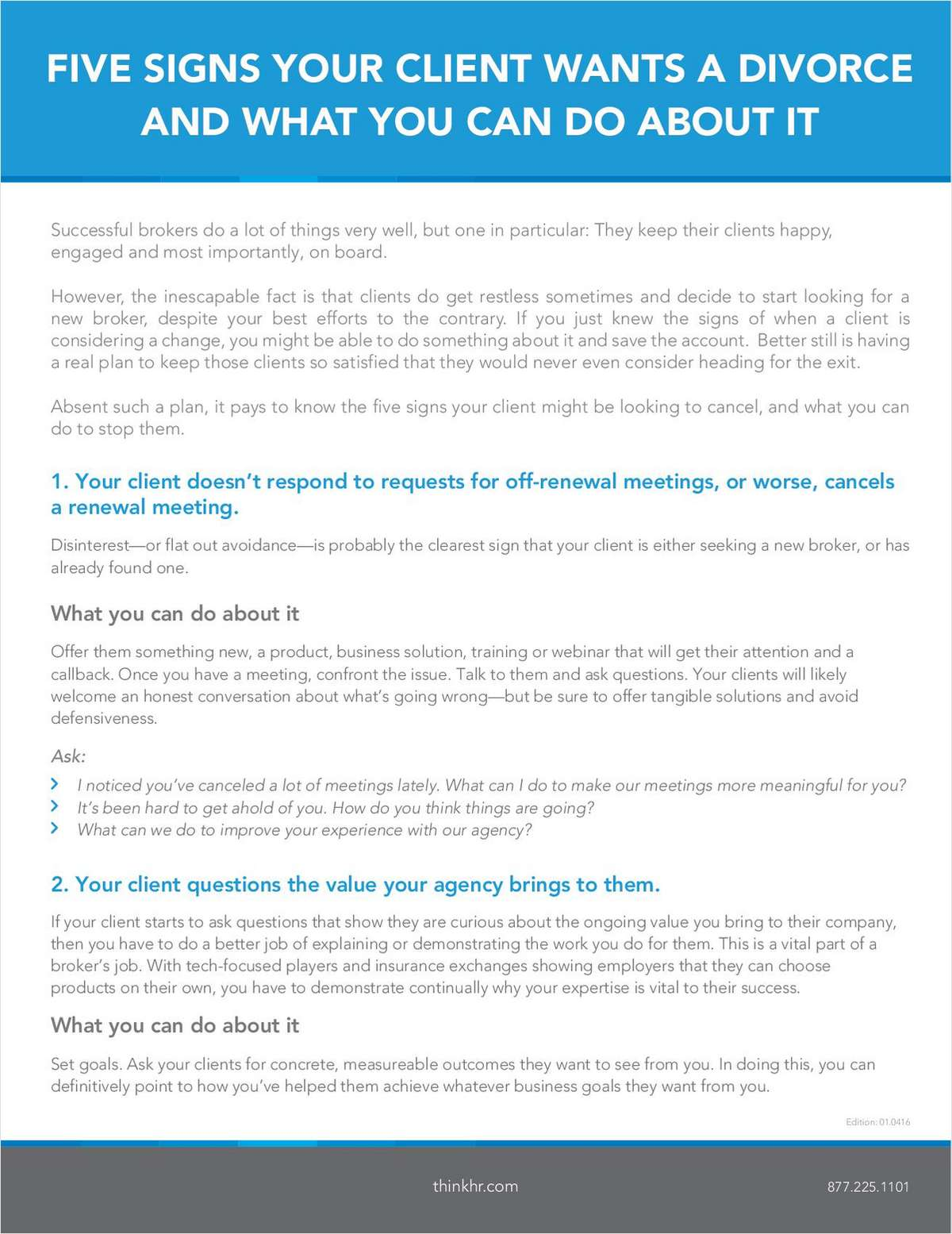 Instant Access White Paper: 5 Signs Your Client Wants a Divorce and What You Can Do About It