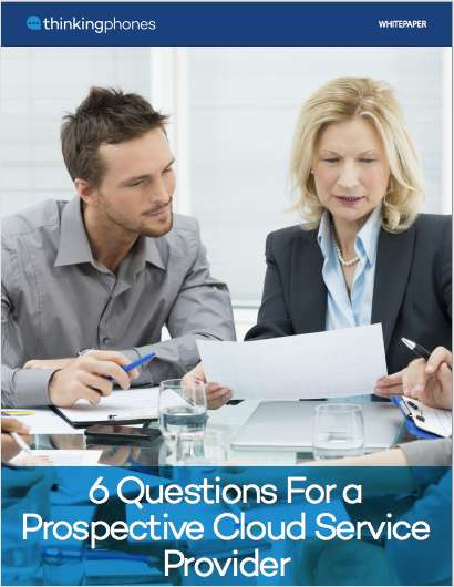6 Questions For a Prospective Cloud Service Provider