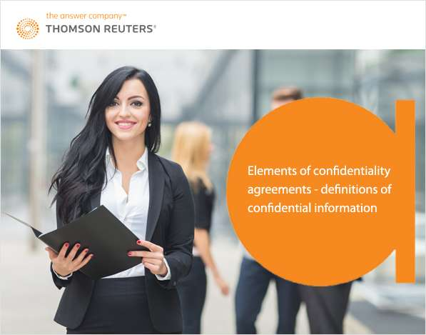 Elements of Confidentiality Agreements - Definitions of Confidential Information