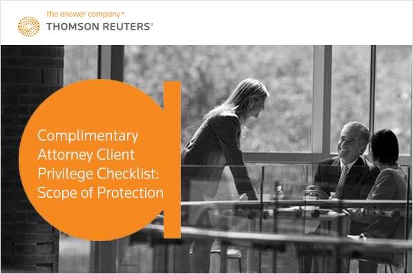 Complimentary Attorney Client Privilege Checklist