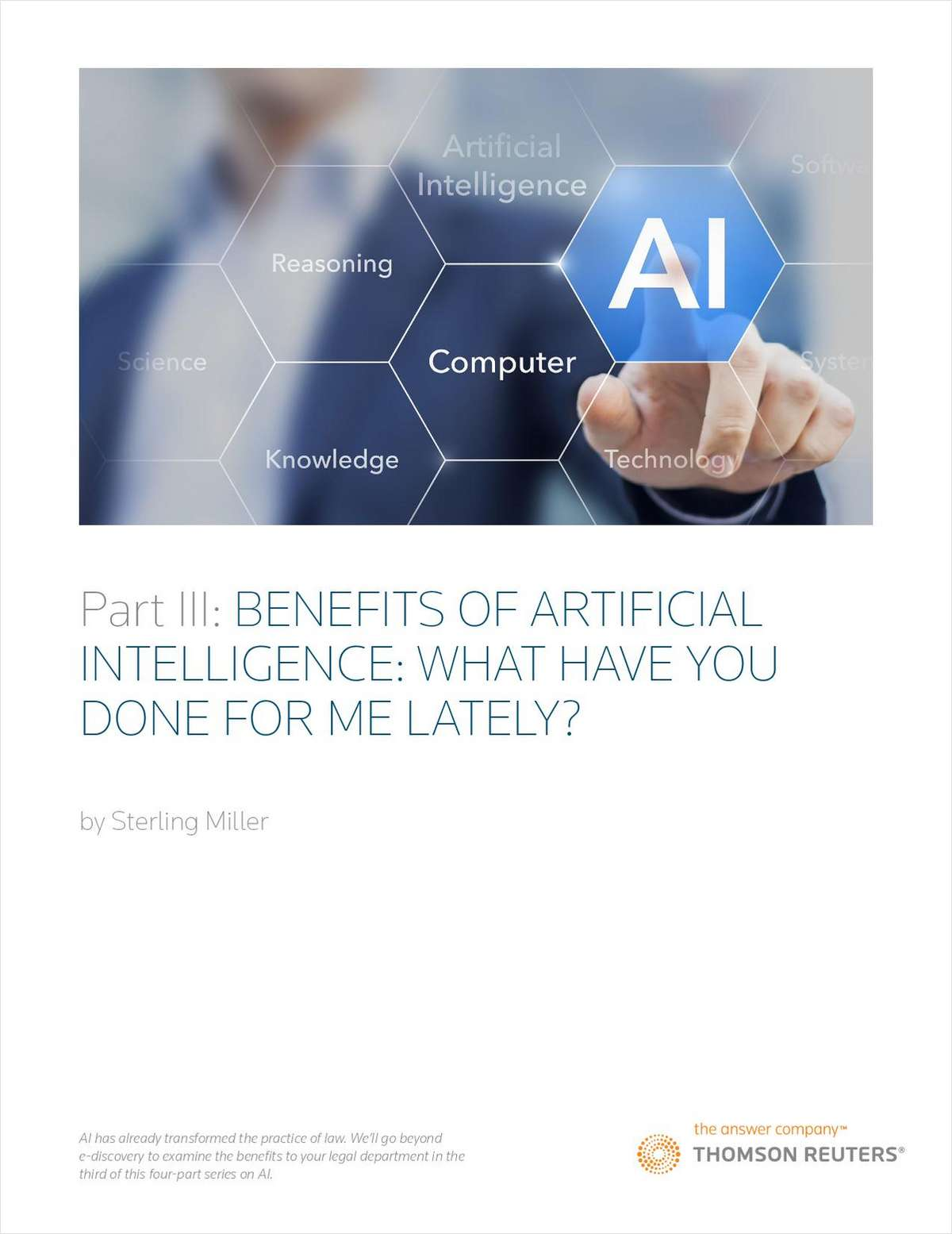 What Can AI Do For Your Legal Department?