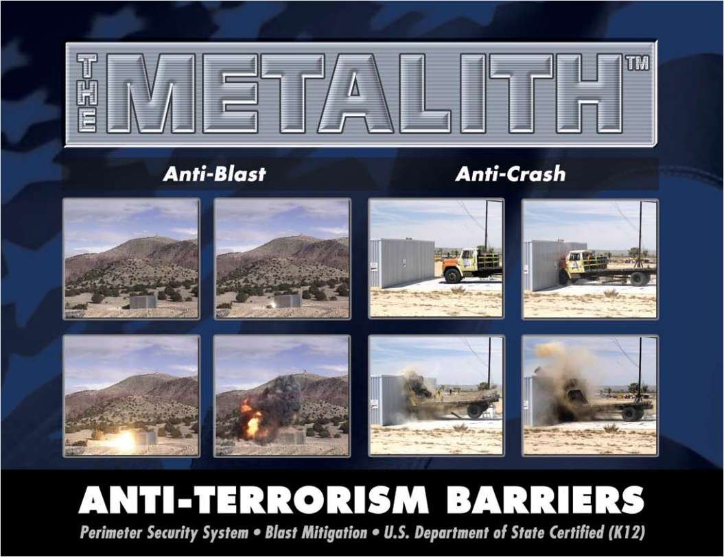 Protect Critical Infrastructure From Terrorist Attacks: Metalith Perimeter Security Systems - Ain't Nothing Coming Through!