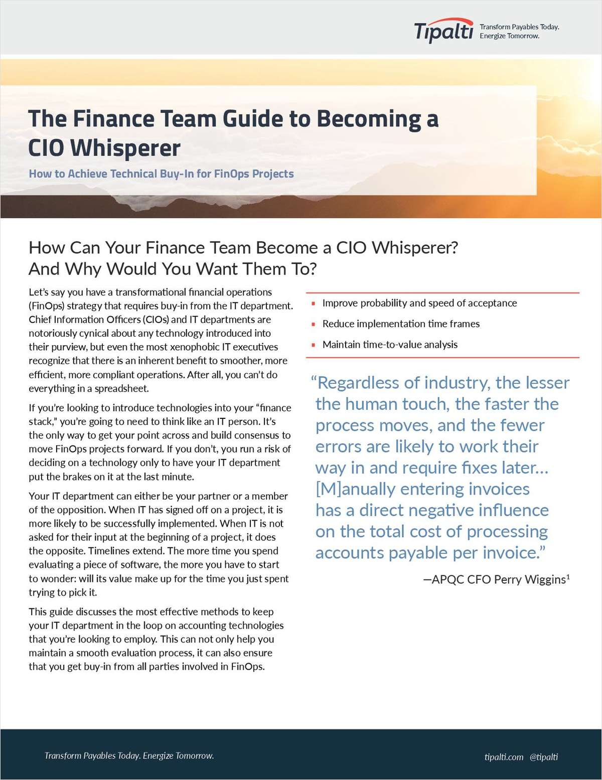 The Finance Team Guide to Becoming a CIO Whisperer