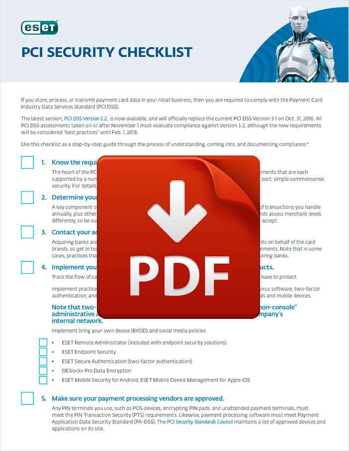 PCI Security Checklist