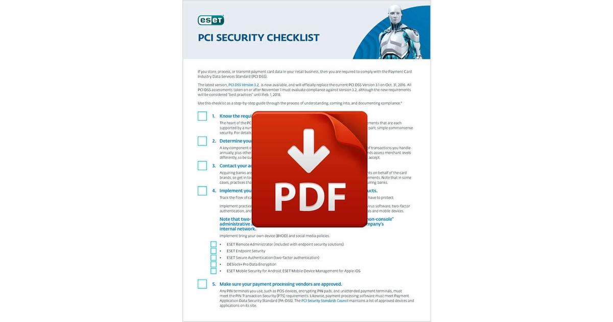 PCI Security Checklist, Free Total Tech Checklist