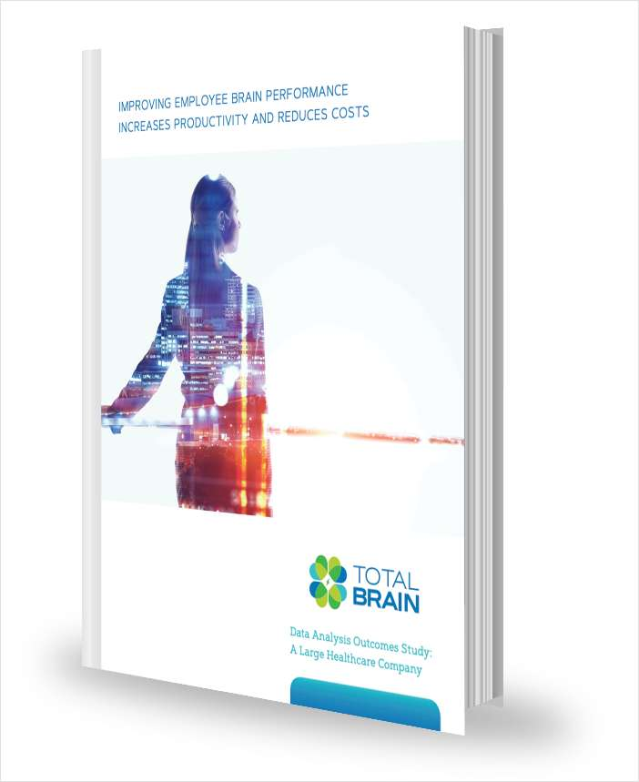 Improving Employee Brain Performance Increases Productivity and Reduces Costs
