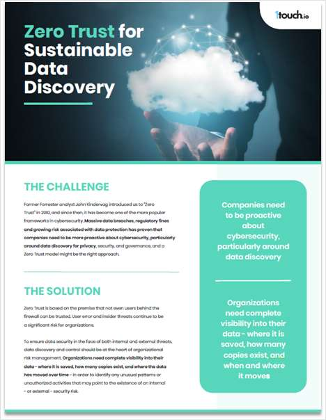 eBook: Zero Trust for Sustainable Data Discovery