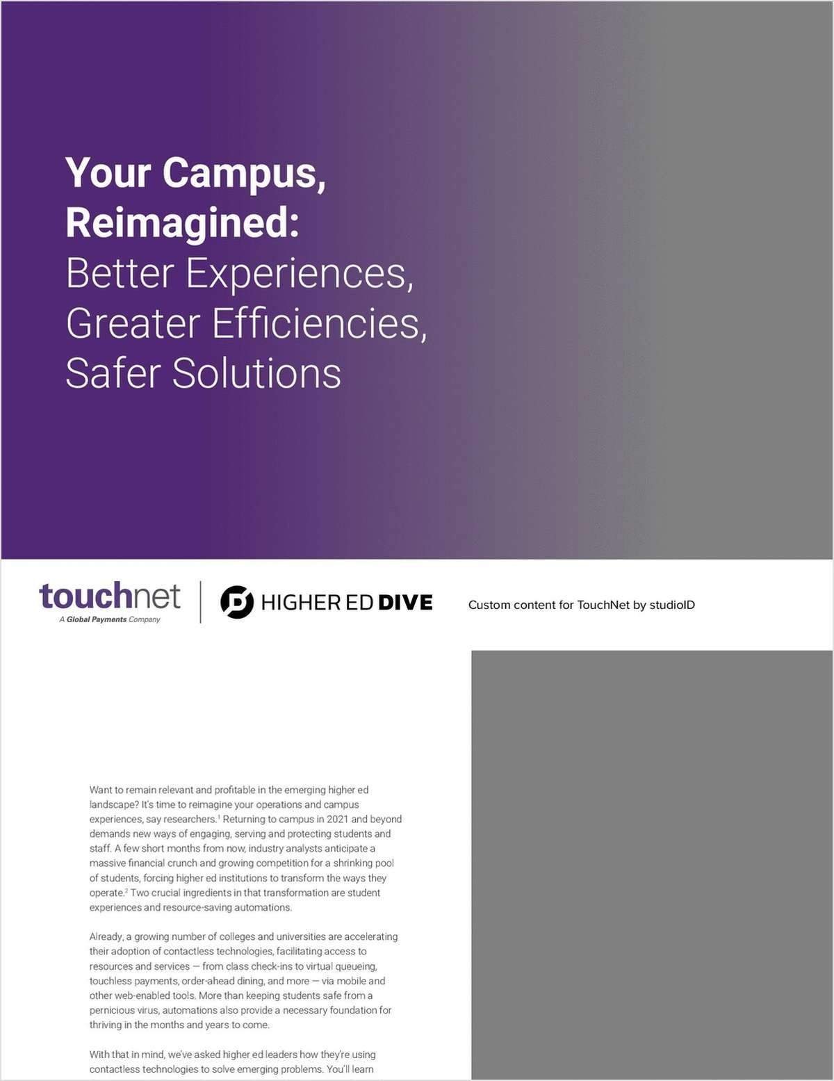 Your Campus, Reimagined: Better Experiences, Greater Efficiencies, Safer Solutions