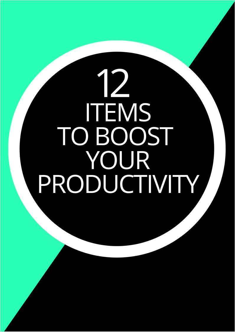 12 Items to Boost Your Productivity