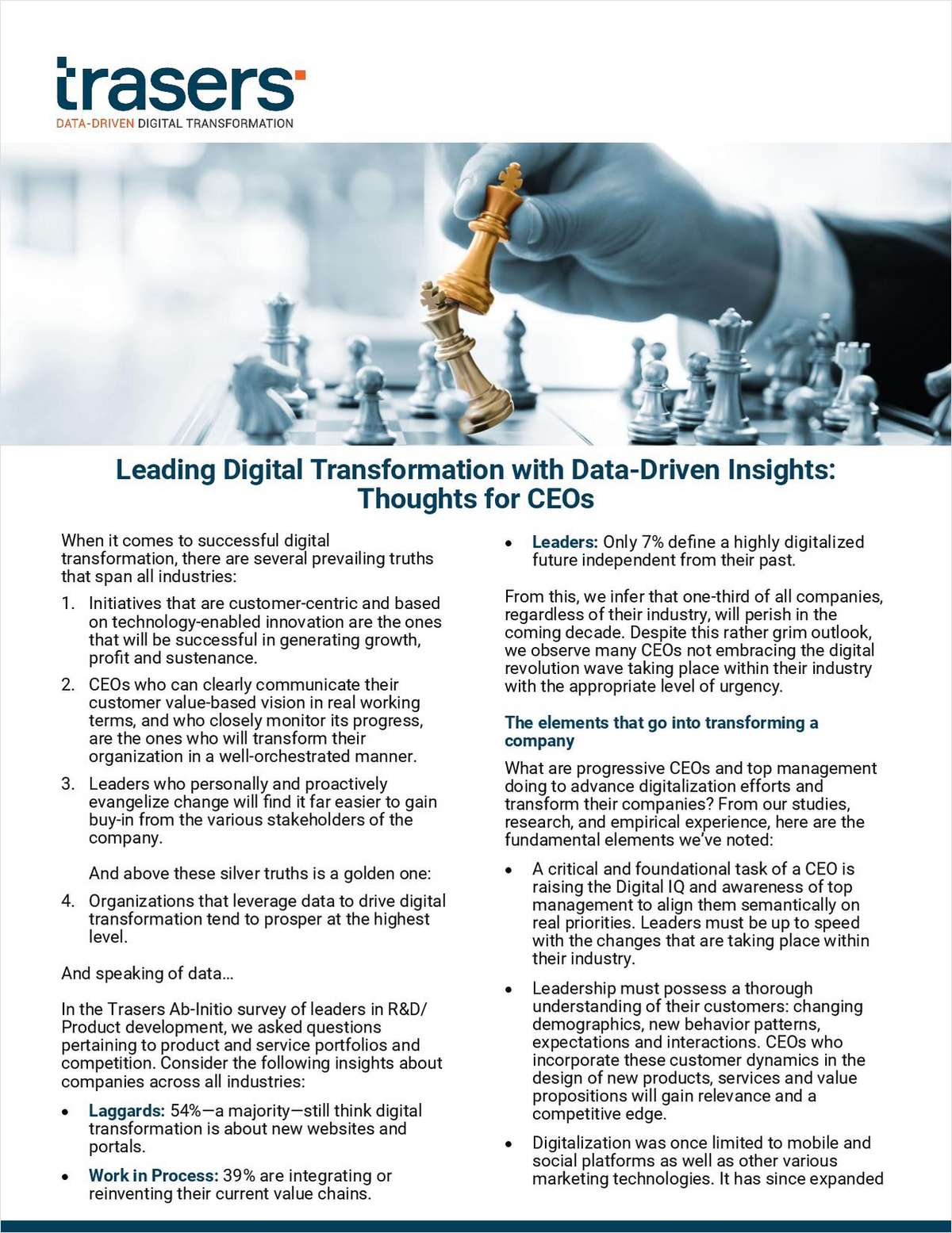 Leading Digital Transformations with Data-Driven Insights: Thoughts for CEOs