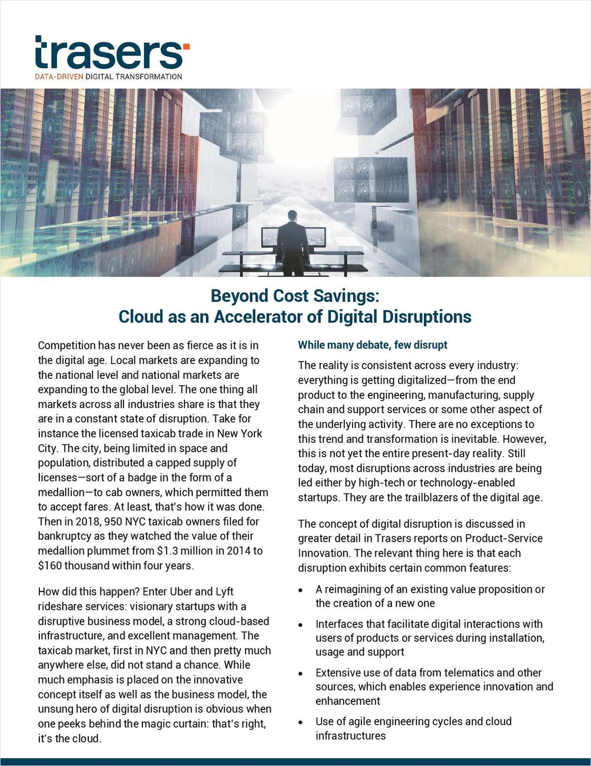 Beyond Cost Savings: Cloud as an Accelerator of Digital Disruptions