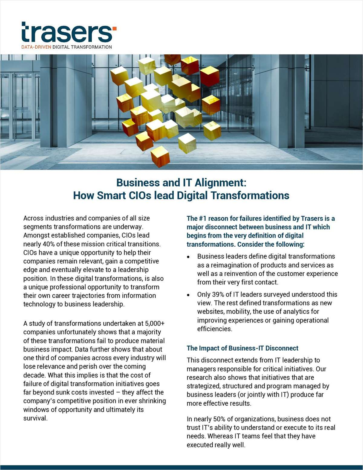 Business and IT Alignment: How Smart CIOs lead Digital Transformations