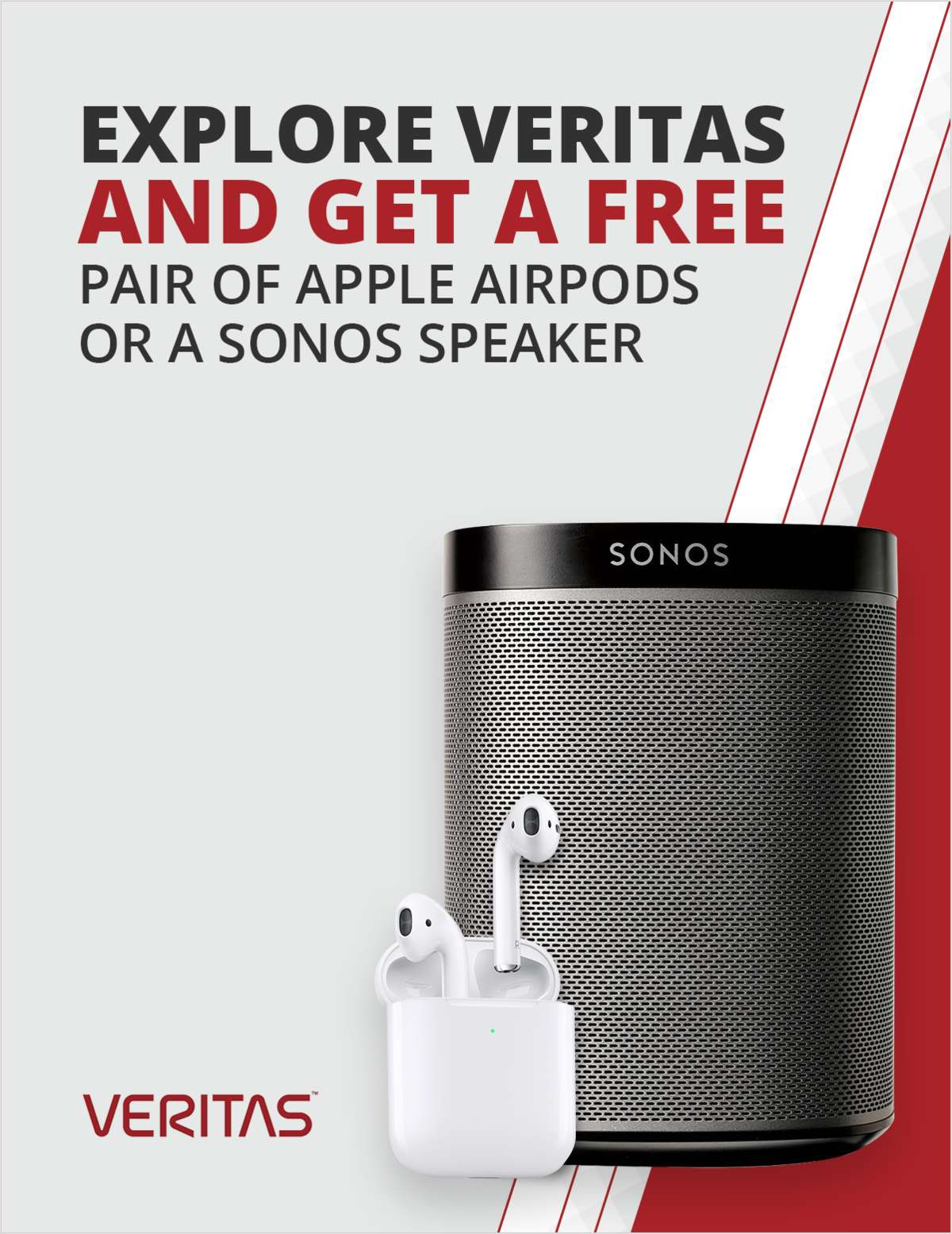 Explore Veritas and Get a Free Pair of Apple AirPods or a Sonos Speaker