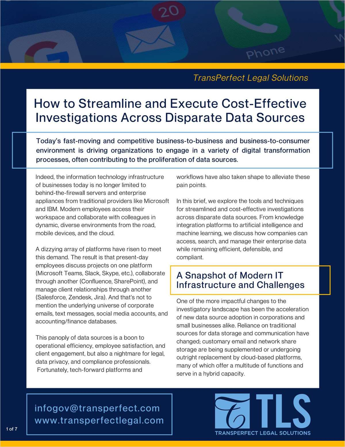 How to Streamline and Execute Cost-Effective Investigations Across Disparate Data Sources