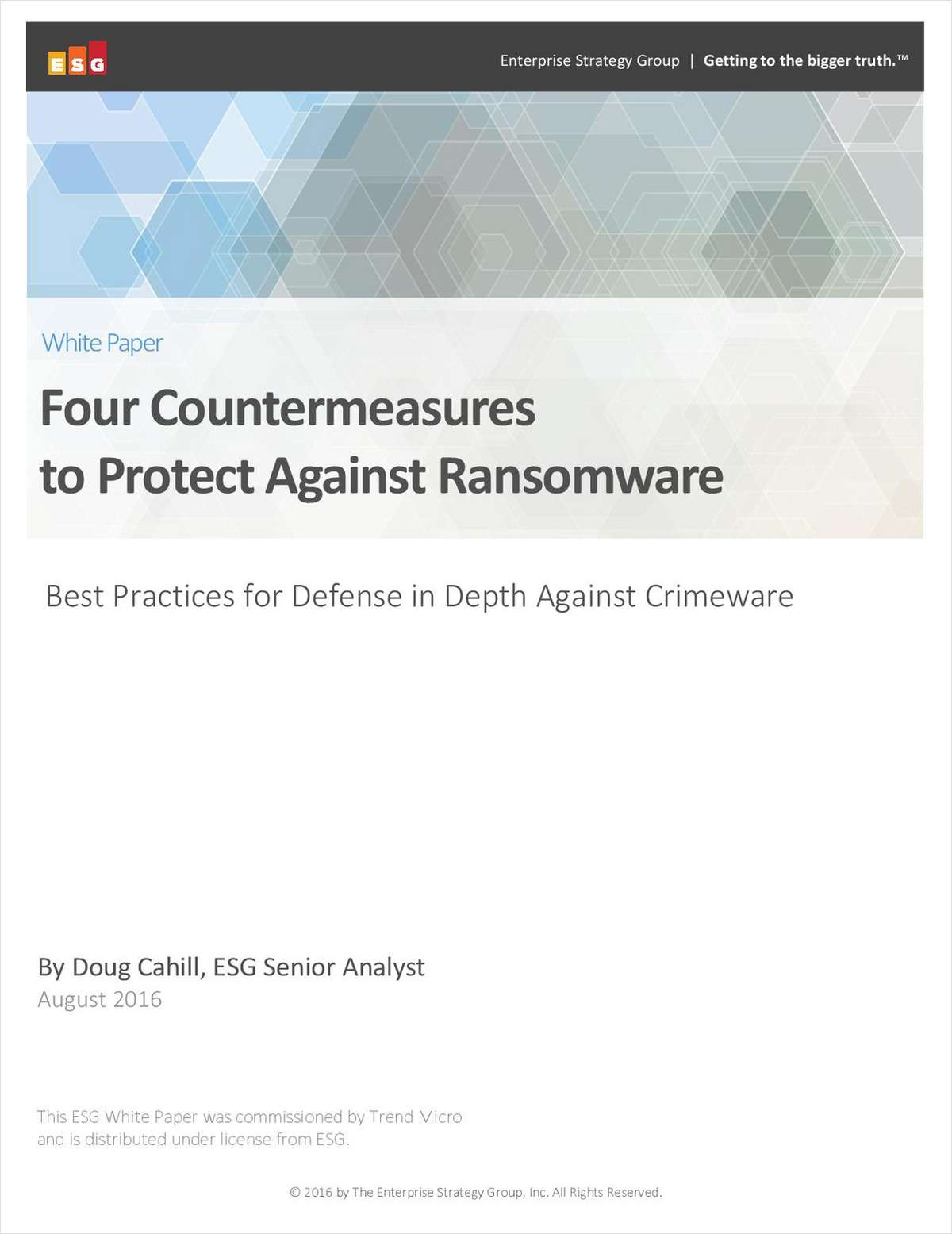 Four Countermeasures to Protect Against Ransomware