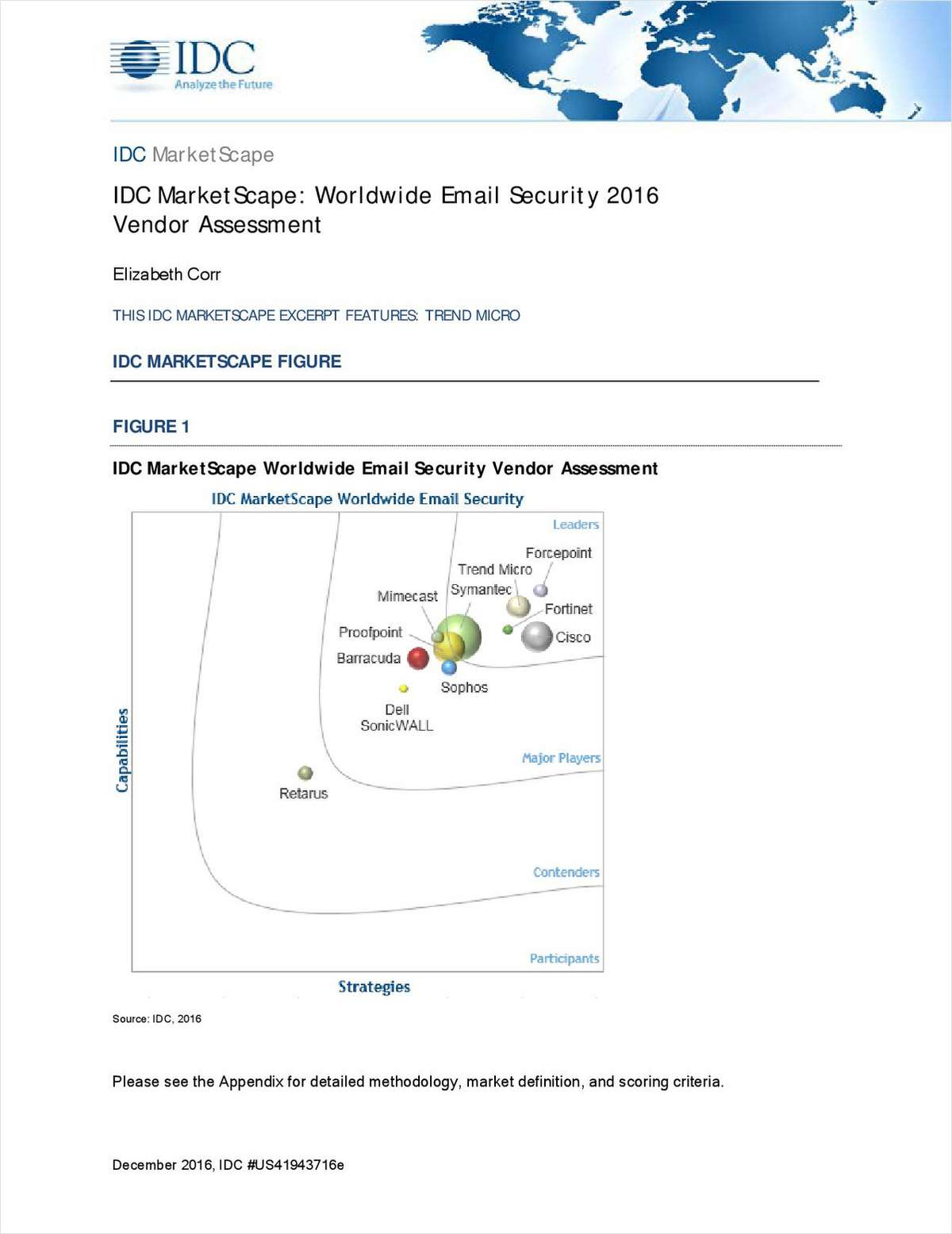 IDC MarketScape: Worldwide Email Security 2016 Vendor Assessment