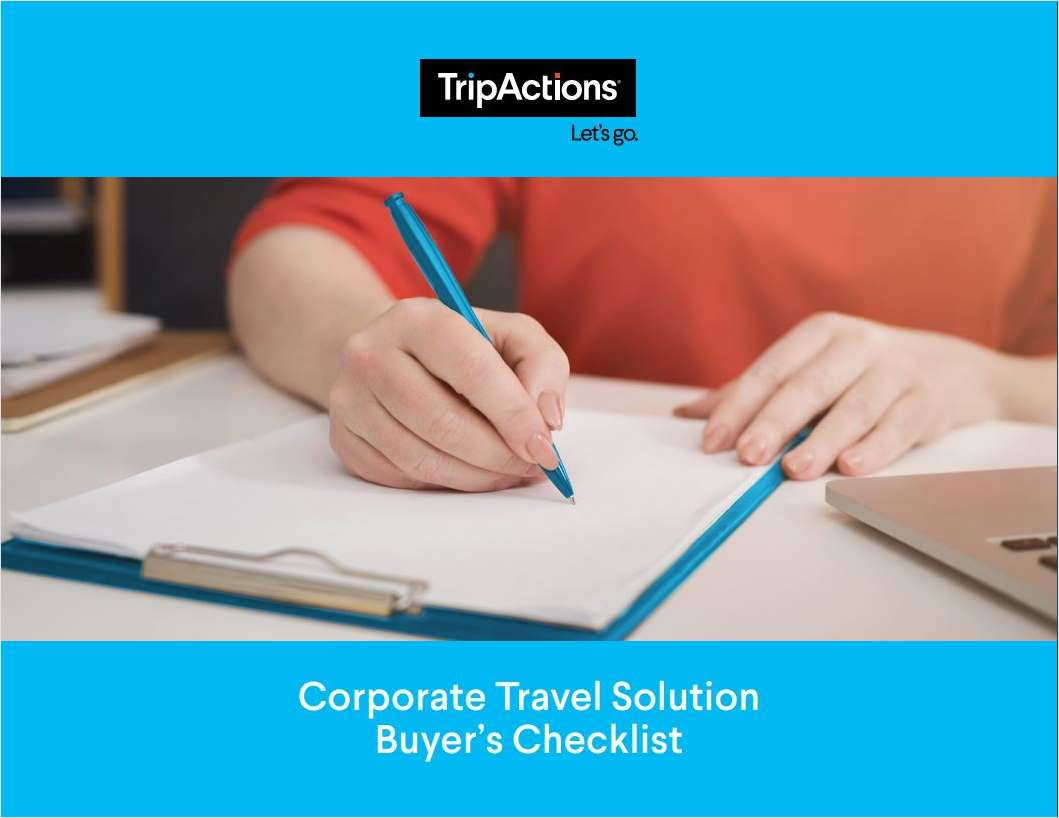 The Complete Corporate Travel Solution Buyer's Checklist