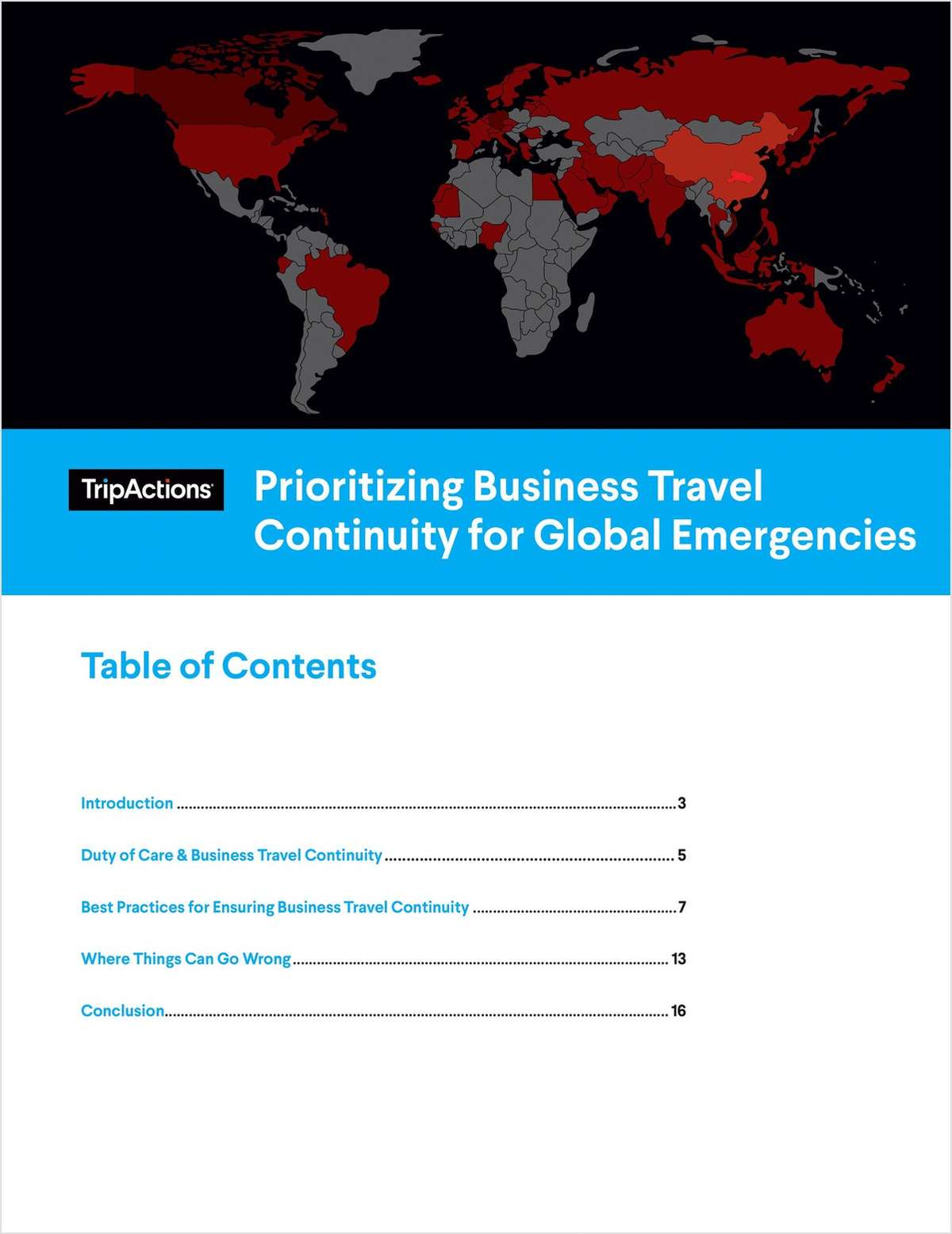 Prioritizing Business Travel Continuity for Global Emergencies