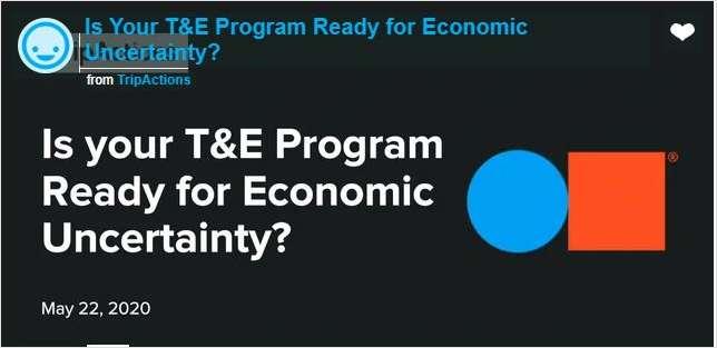 Tackle T&E in a post-COVID economy