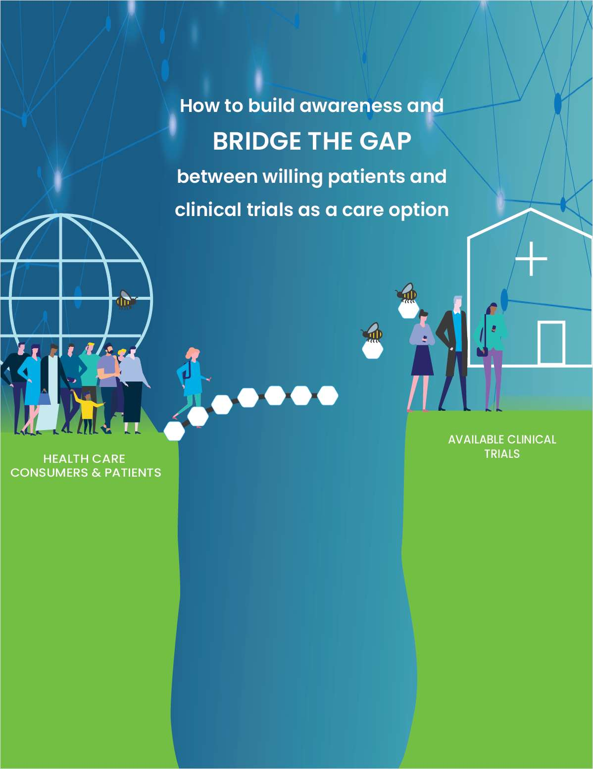 How to build awareness and BRIDGE THE GAP between willing patients and clinical trials as a care option