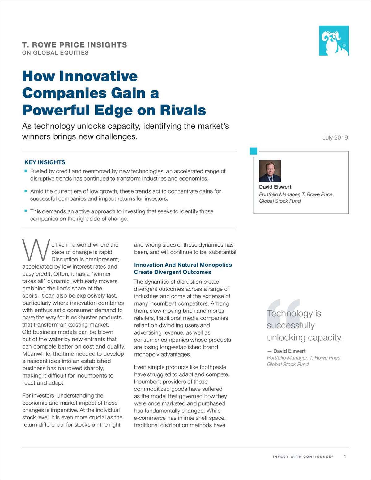 Global Equity Insights: How Innovative Companies Gain a Powerful Edge on Rivals